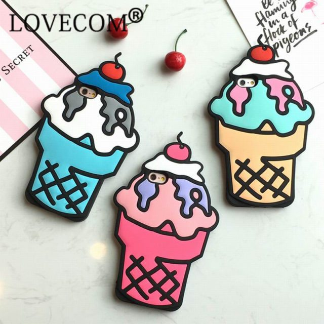 New! 3D Cartoon Case – Ice Cream  For iPhone 5 5S SE 6 6S 6Plus 6SPlus