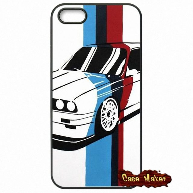 Awesome BMW M power Cases For  iPhone 4 4S /5 5C SE/ 6 6S /7 Plus /4.7 5.5 iPod Touch 4-6