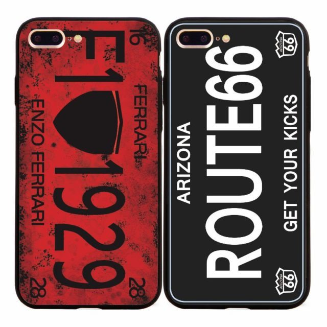 Retro Fashion Famous Car License Cases for iPhone 5 5s /SE /7 7Plus/ 6 6s 6Plus/