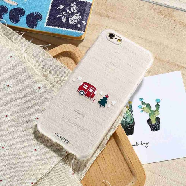 Lovely Cartoon Snow Man – Silicone Case For iPhone 7 7Plus/ 6 6S / 6Plus