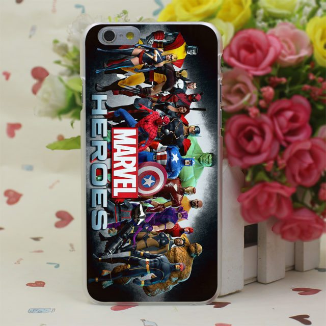 (New)Marvel Super Heroes – Hard Cased  for iPhone 7 7 Plus /6 6S Plus/ 5 5S SE 5C/ 4S