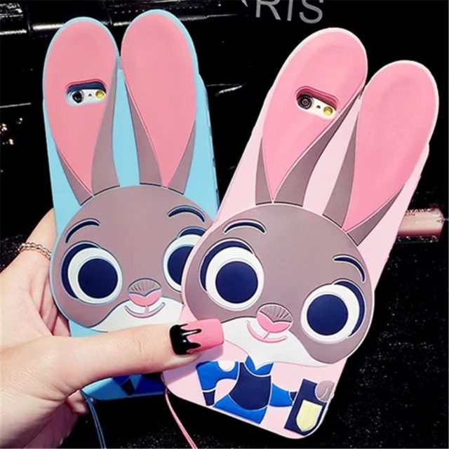 Zootopia Lovely Rabbit Judy – 3D Cartoon Case For iphone 5 5S /7 6 6S /7 Plus SE/ Samsung Galaxy S7 Edge S6 S5