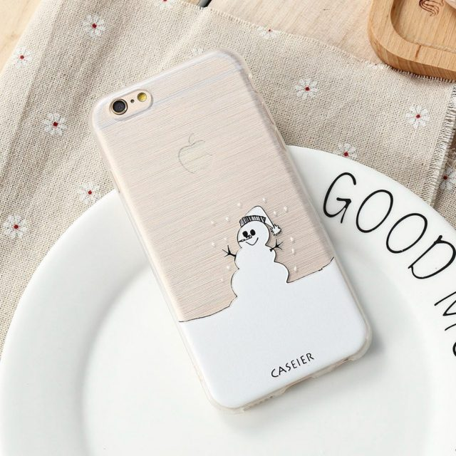 Cool Snowman Case For iPhone 7 /6 6s Plus /5 SE / Samsung S6 /S7 Edge