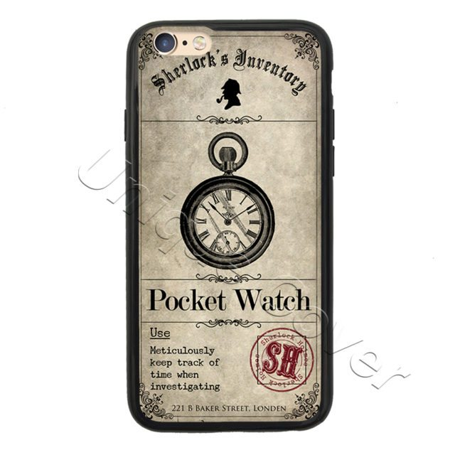 Sherlock Holmes Case For iphone 4/4s 5/5s/5se 6/6s 7 6/ plus _ ipods