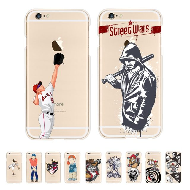 Cool Baseball Style Case For iPhone 5s 5 SE /6 6s, plus / 7 plus