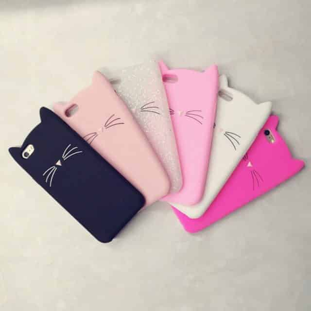(New) Super Cool Cat Ears – Cases For iphone 5 5s Se /6 6S 6Plus/ 7 7Plus