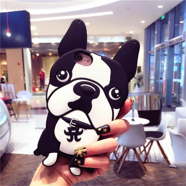 New Cute 3D Animal Bulldog Case  For iPhone 7 7Plus /5 5S SE /6 6S 6Plus