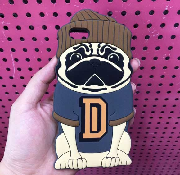 Cute 3D Pug Dog Silicone Case For iPhone 6 6s