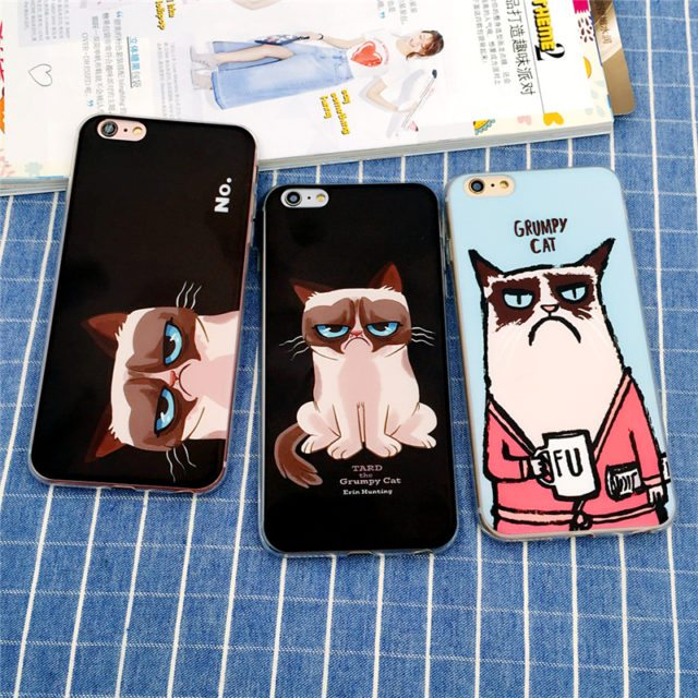 Grumpy Cat Phone Case for Apple iPhone 5 5S SE/ 6 S 6S /7 Plus