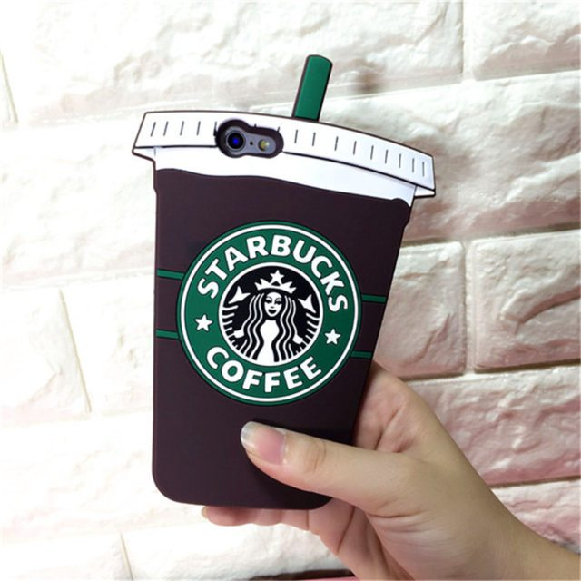 3D Starbuck Cup Soft Silicone Case For iPhone 7, 7 plus,  5S ,SE 6s, 6S Plus