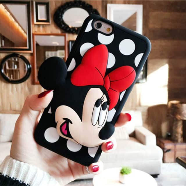 Cute Minnie & Mickey 3D Case For iPhone 7 7Plus /5 5S SE /6 6S 6Plus