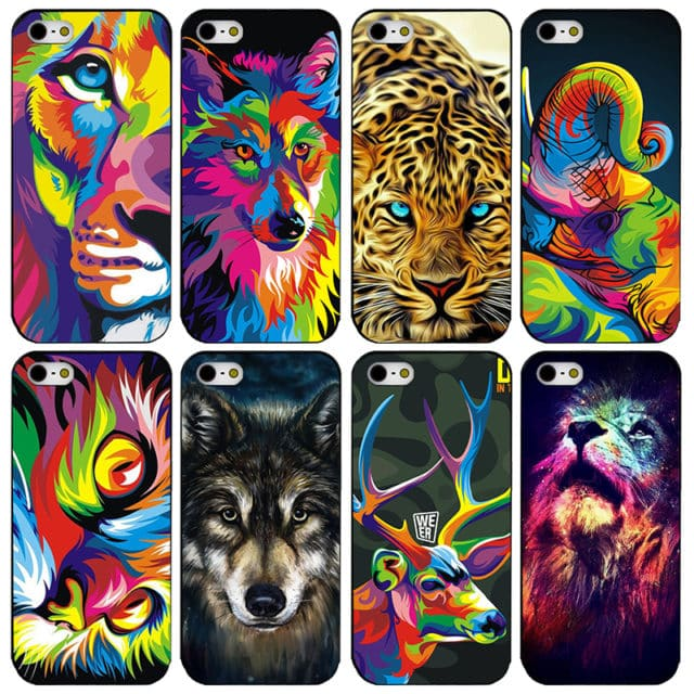 Cool Art Cats Case For iphone 4 4s 5 5s 5c se 6 6s 6plus 6splus 7 7plus