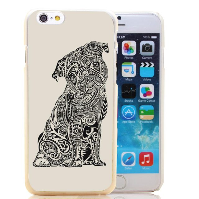 Polynesian Pug – Transparent Hard Case for iPhone 6 6s plus /5 5s 5c /4 4s