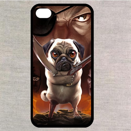 Pug Bandit – Case for iPhone 4S/ 5 5S 5C/ 6 6S  Plus/ Samsung S3 S4 S5 Mini S6 Edge A3-7/ Note 2-5