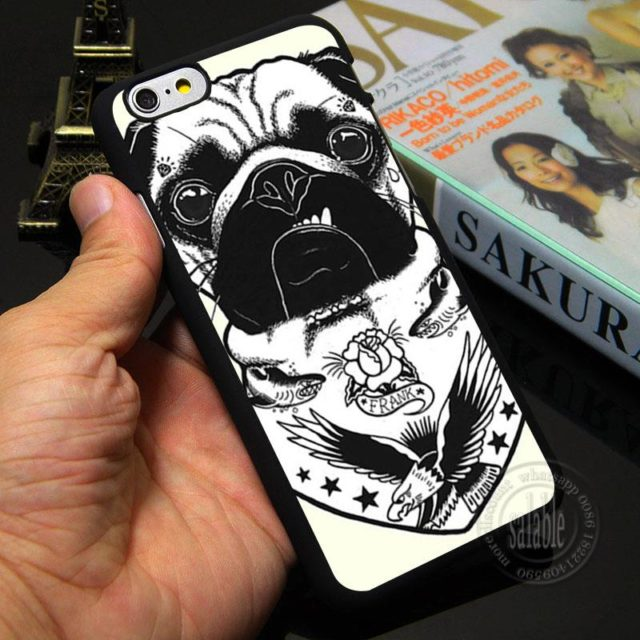 Tattooed  Pug – Phone Case for iPhone 5S 5 SE 5C /4 4S 6 6S /7 Plus