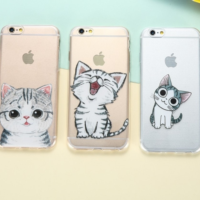 Cat iPhone 8 7 6 6s Case Ultra Thin Silicon